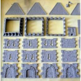Tour de garde avec toit