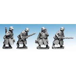 WWG173 - Infanterie en manteau avec LMG