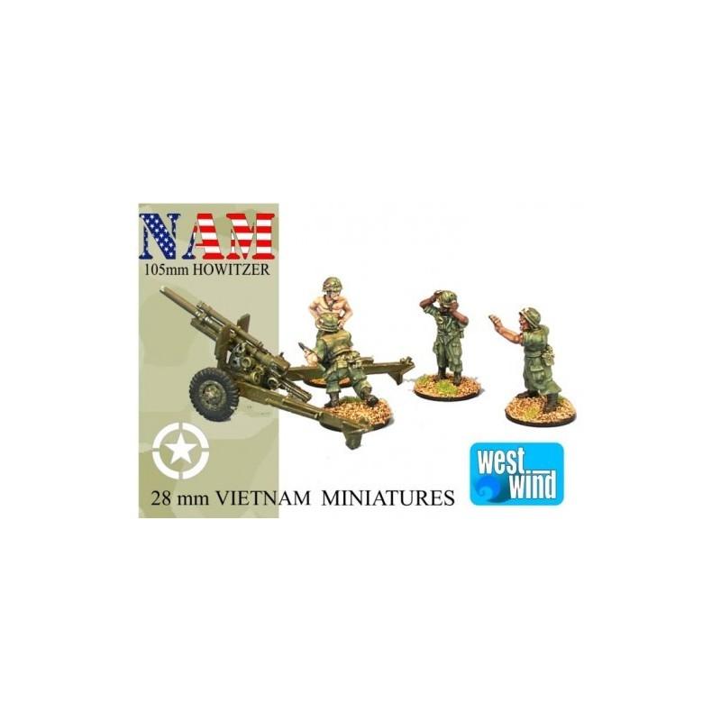 NAM019 - Obusier de 105mm + servants