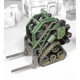 Chariot élévateur industriel lourd avec moteur radial