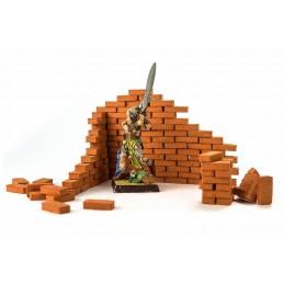 Briques rouges en céramique