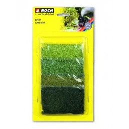 07167 Set de 4 foliages (olive, vert clair, vert et vert foncé)
