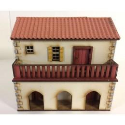 Maison espagnole avec arcades