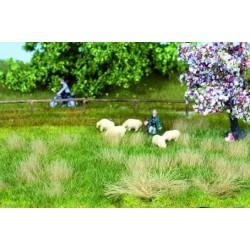 7402 Nature et pré de printemps (22cm x 20cm) + 10 touffes d'herbes