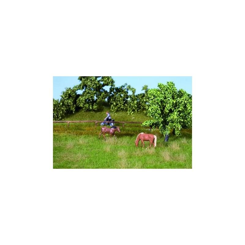 7403 Nature et pré d'été (22cm x 20cm) + 10 touffes d'herbes