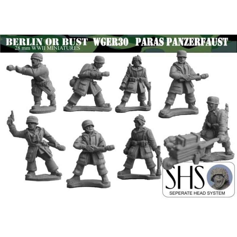 WGER30-SHS - Fallshirmjager avec Panzerfaust (Têtes séparées)