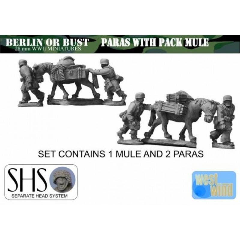 WGER31-SHS - Fallshirmjagers avec mule (Têtes séparées)