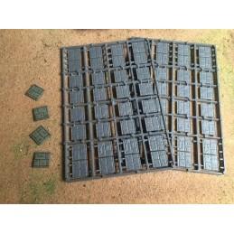 Bases pavées de 20mm x 20mm