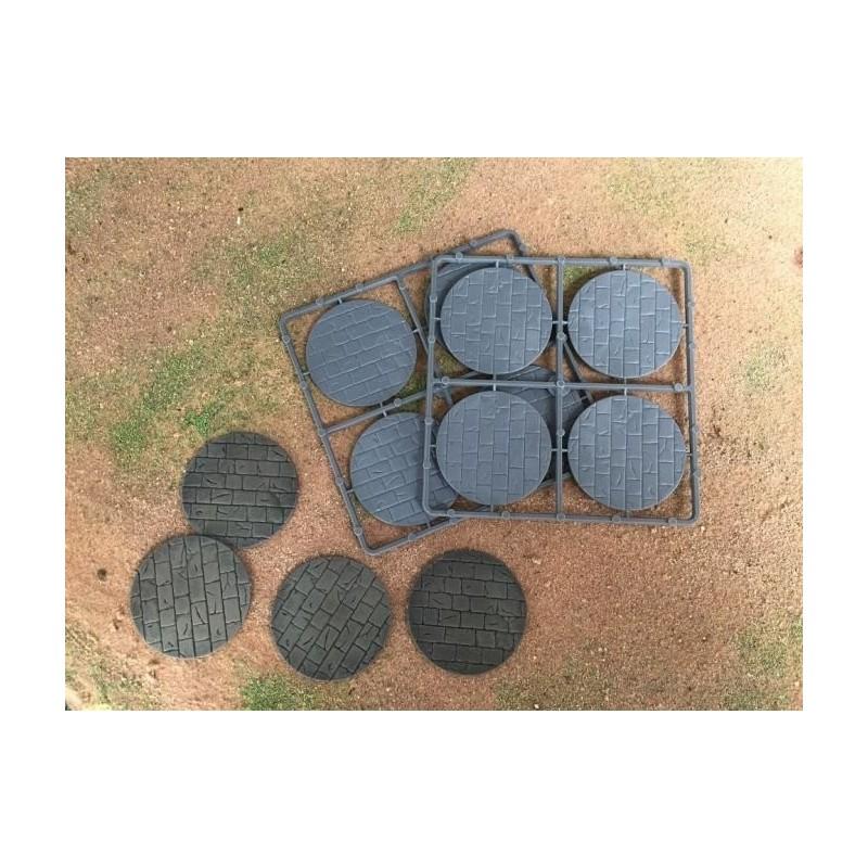 Bases circulaires pavées de 50mm