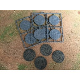 Bases circulaires pavées de 60mm