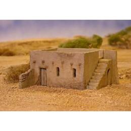 Maison en briques de terre battue