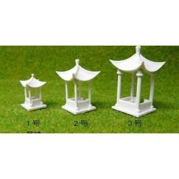 Kiosque asiatique (8cm x 5cm) toit à quatre angles