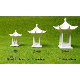 Kiosque asiatique N°3 (5,8cm x 5cm) toit à six angles