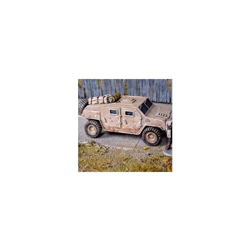 Jeep blindée militaire