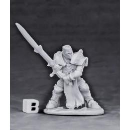 77552 Croisé avec épée à deux mains