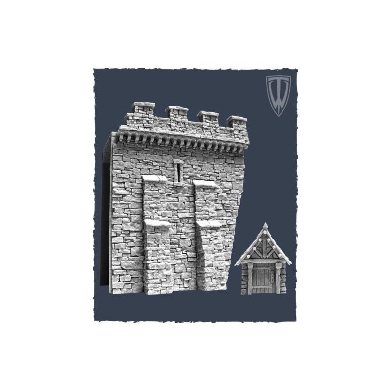 Murs de cité médiévale : section C