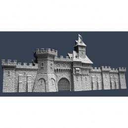 Murs de cité médiévale : section D