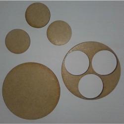 Socle diamètre 60mm + 3 socles 25mm