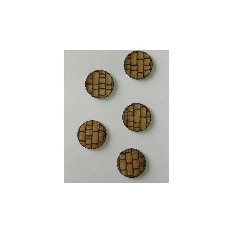 Socles gravés diamètre 25mm