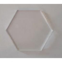 Socles acryliques hexagonales diamètre 35mm