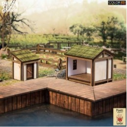FK037 latrines et cabanon