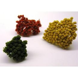 Set de 3 fleurs naturelles moyennes pour buissons
