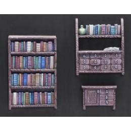 Bibliothèques et commode
