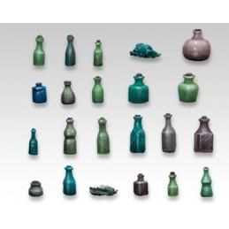 Bouteilles, flacons, flasques, etc.