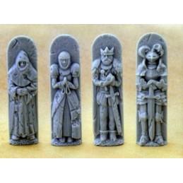 Set de 4 statues différentes