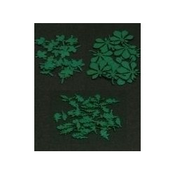 GL059 Mélange de feuilles de chêne, de bouleau, de hêtre et de tilleul (180 pcs)