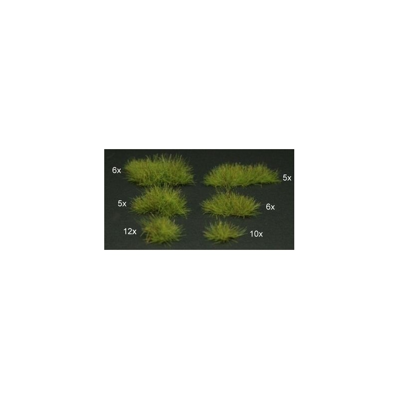 GL306 44 touffes vert clair de différentes tailles et longueurs