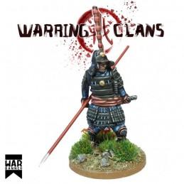 WB-SAM007 - Samurai en armure complète avec Yari (Lance)