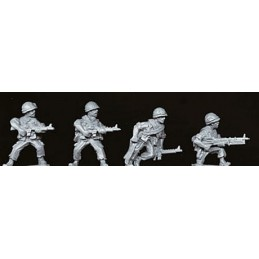 VNM004 Soldats US avec barda allégé et M60