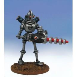 Robot légionnaire avec arme lourde