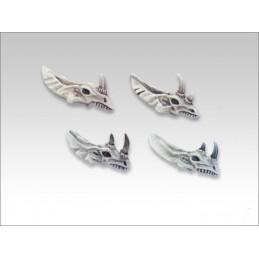 Crânes d'homme-lézards/dinosaures