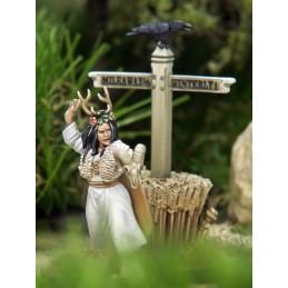 Lady Winterly la sorcière et poteau indicateur