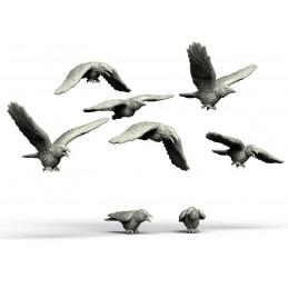 Essaim de corbeaux