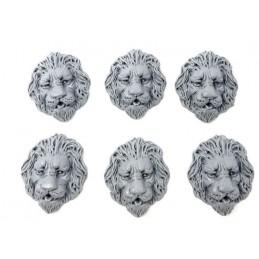 Bas reliefs en têtes de lion