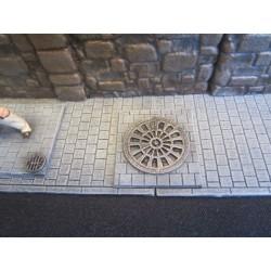 Plaques d'égout (18 pièces) grands modèles