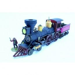 Locomotive (noire) américaine 19e siècle