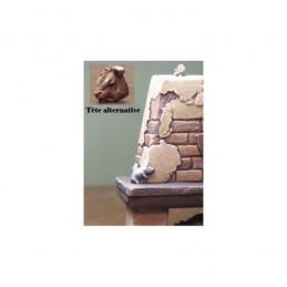 Cheminée médiévale (6 x 5cm) 3 éléments