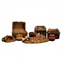 Coffres et trésors 7 éléments en résine