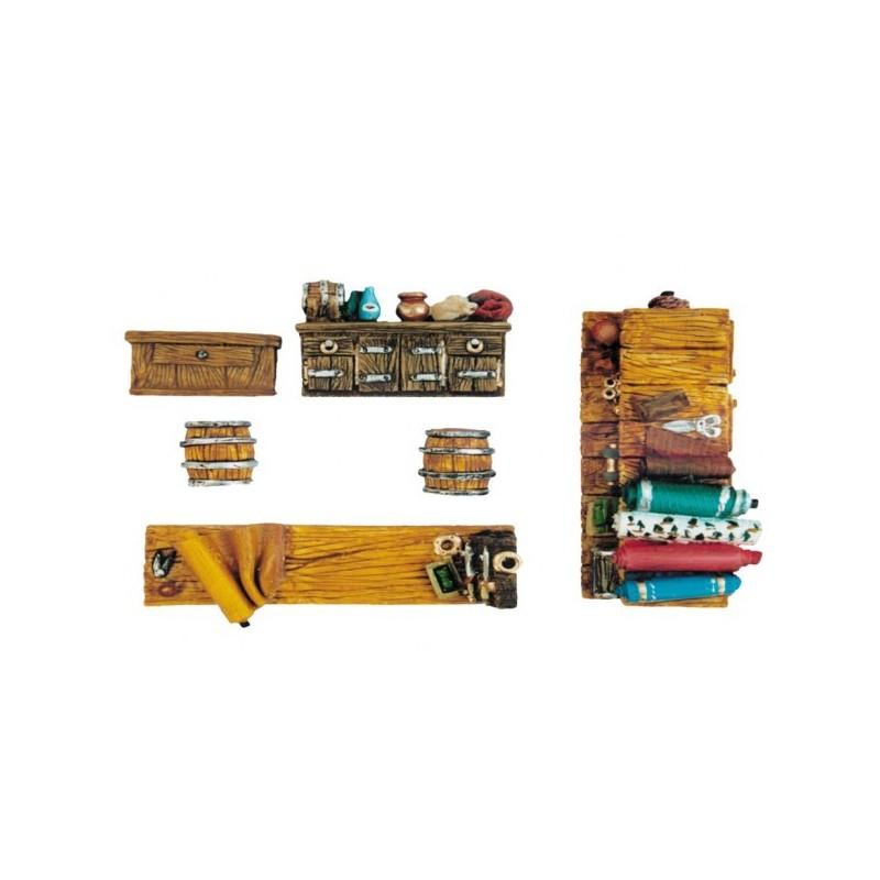 Accessoires d'échoppe 6 éléments en résine