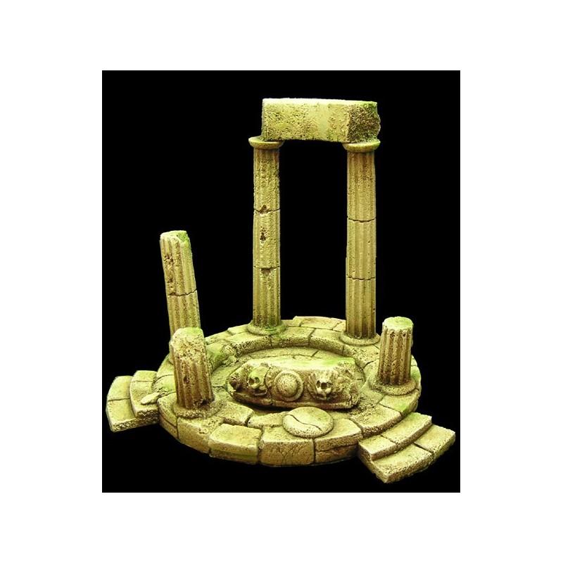 Ruine de temple (9 x 7cm) 11 éléments en résine