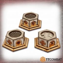 Puits hexagonaux vénitiens