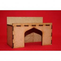 Porte de mur d'enceinte fortifiée