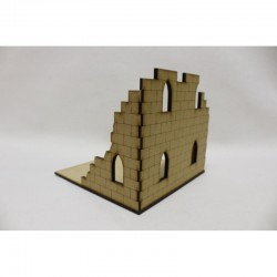 Tuile avec ruine à deux étages