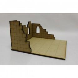 Tuile avec ruine à un étage