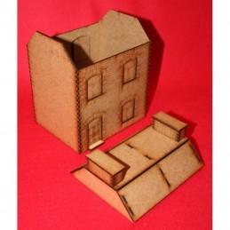 Maison à toit mansardé