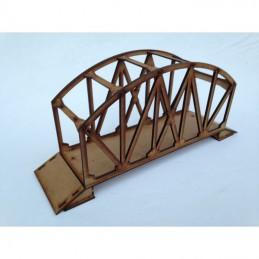 Pont métallique avec poutres en arches
